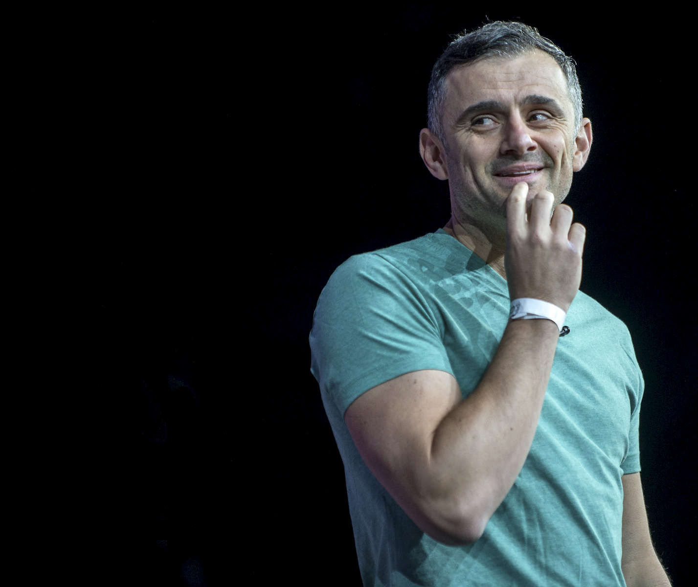 Gary Vaynerchuk is speaking at the Synergy Global Forum NY at The Theater at Madison Square Garden October 28, 2017. Photo By Ron Wyatt
