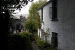 Visitors gather outside Dove Cottage in Grasmere. Before Wordsworth lived there the building served as an inn. (Simon Akam for the Washington Post)
