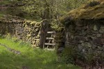 A gate in a dry-stone wall in the Duddon Valley in the English Lake District. Built without mortar, dry-stone walls are ubiquitous in the area. (Simon Akam for the Washington Post)