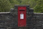 A postbox built into a road bridge over the River Duddon in the English Lake District. The letters GR stand for 'George Rex.' (Simon Akam for the Washington Post)