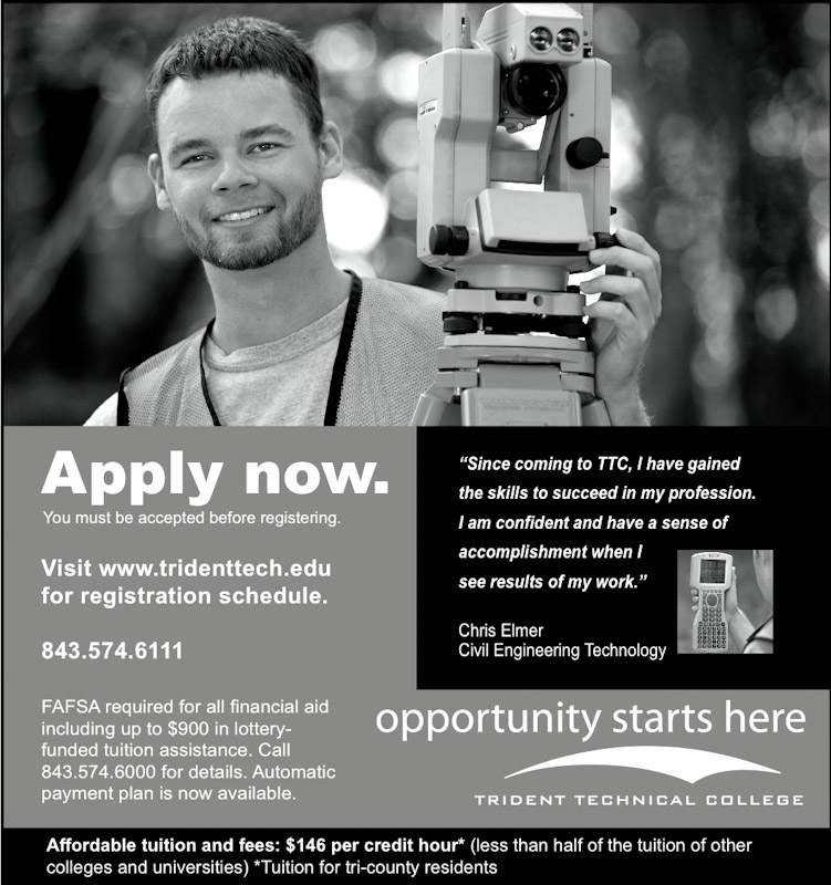Magazine advertisment for Trident Technical College.  Photo by Mic Smith Photography LLC.
