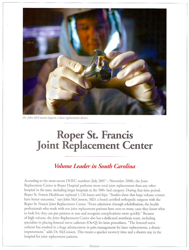 Magazine story for Roper St. Francis Healthcare.  Photo by Mic Smith Photography LLC