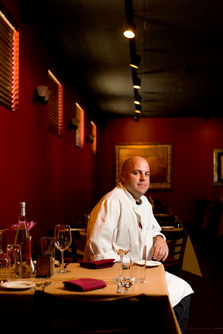 Chef Jeremy Barlow poses for a portrait in his restaurant Tayst on Thursday, April 17, 2008 in Nashville, Tenn.