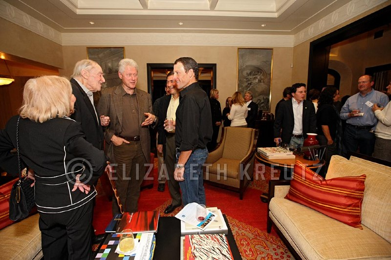 Lance hosts a fundraiser at his home for President Clinton's non profit...the Clinton Global Initiative.  I get the {quote}Conton Factor{quote}  He is very charismatic, smart and engaging.