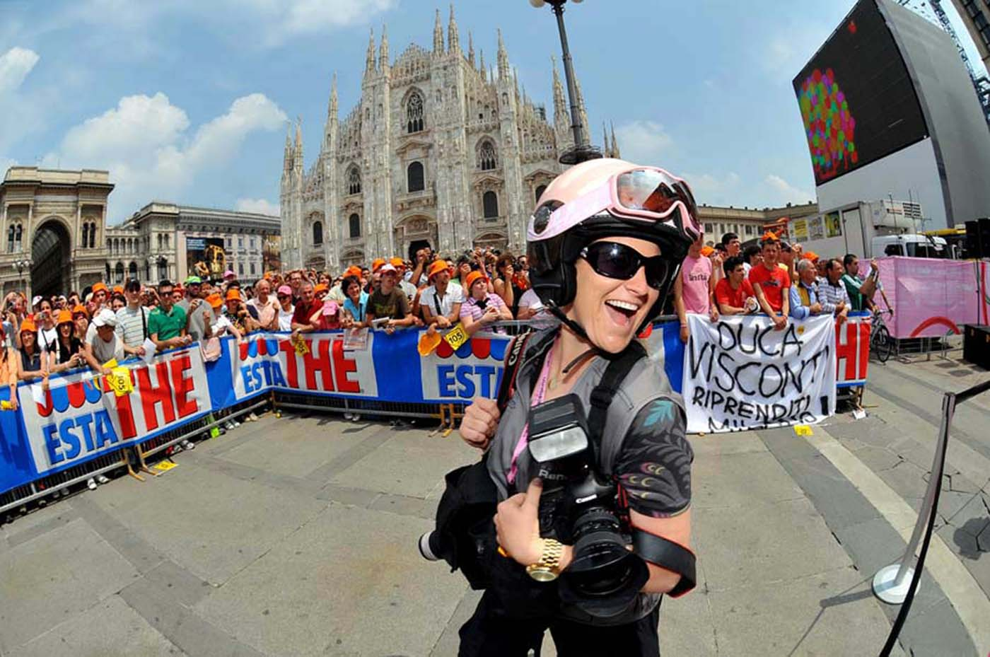 Fun at the GIro.  Thanks for the pic Tim De Waele!