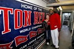 Big Papi stopped by to say hi while I was photographing Lance throwing out the first pitch at Fenway.
