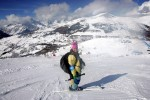 I was happy here, but this turned out to be one of the scariest shooting days of my carreer...I forgot my crampons to use on the mountain for the Men's Slalom in Torino.  Thank goodness for my buddy Erich Schlegel...He kicked a ledge in the ice and fastened my chest vest into the blue fencing.  My butt went numb because I couldn't move. The whole day I was scared I would slip and take the fencing and photographers down the mountain with me.  Needless to say I never forgot my crampons again!