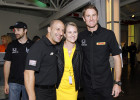 Enjoying the Yellow Party fundraiser for cancer before photographing 2013 Indy 500 Champion Tony Kanaan and 2014 Indy Champion Ryan Hunter-Reay behind the scenes at the Indy 500 May 25, 2014