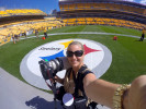 Getting ready to shoot the Steelers home opener against the Browns at Heinz Stadium in Pittsburgh, PA Sunday, Septemebr 7, 2014