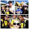 USA Pro Challenge cycling race selfies with Lance and Anna, my photog peeps and superfan Dore in Aspen, Colorado August 18, 2014