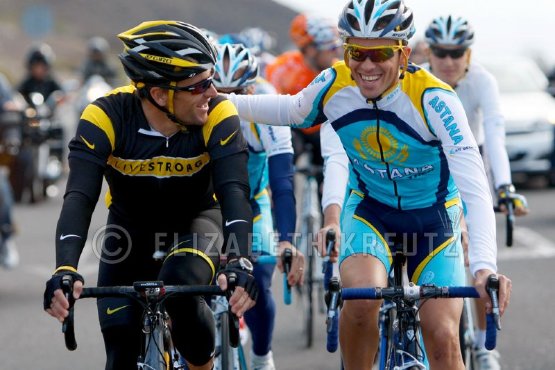 There's one shot all of the photographers needed and wanted....Lance and Alberto riding together.