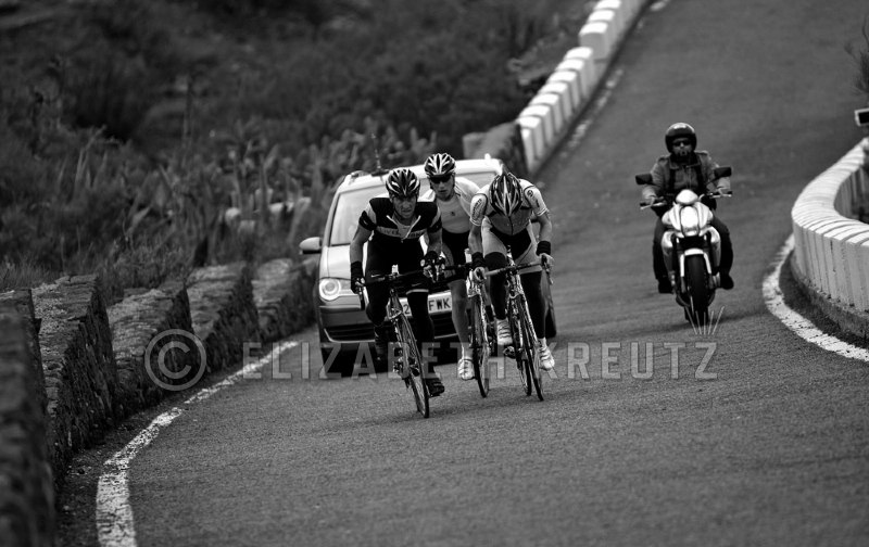 Soon Lance, Levi and Jani breakaway from the group and man is it steeeeeep!