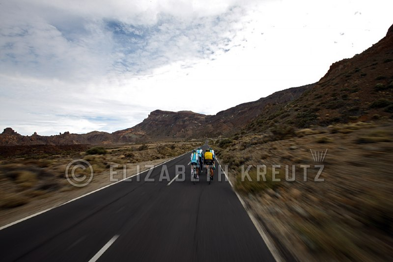 The guys ride through Las Canadas National Park which is home to the worlds third highest volcano - Mount Teide.