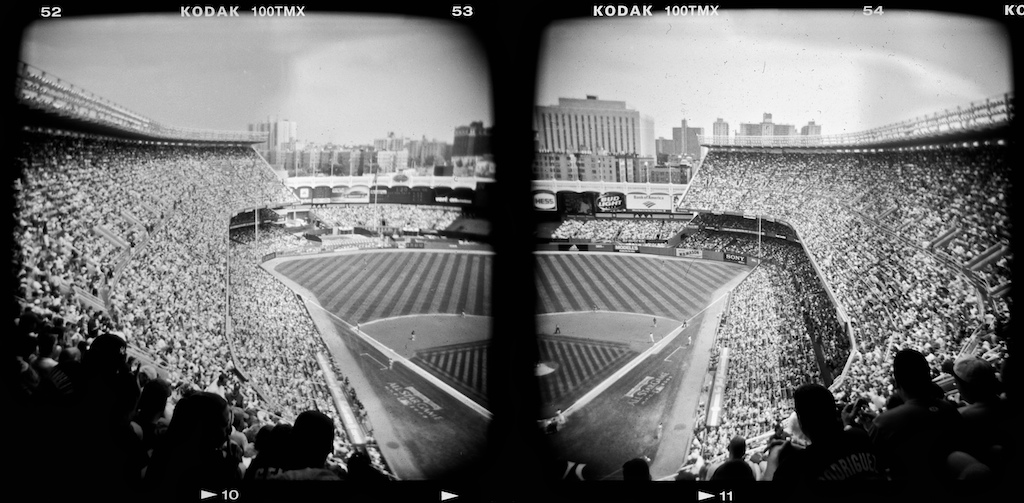 A view from the old Yankee Stadium during it's final season.