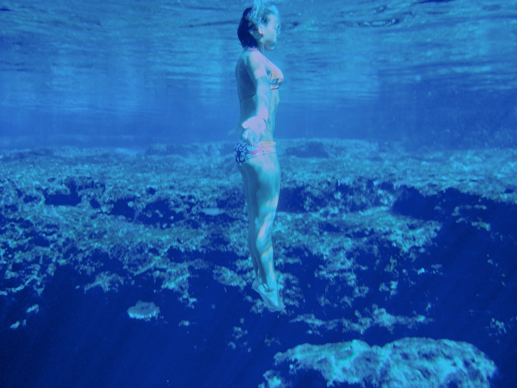 Swimmer Beth Ann Rutledge surfaces at Ginnie Springs.