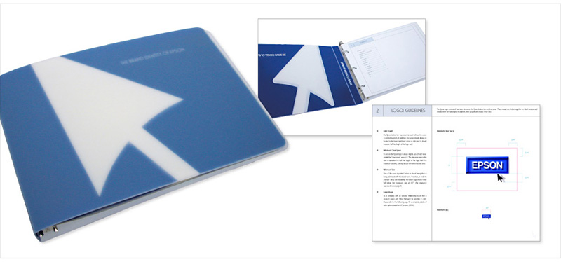 Client: EpsonArt Direction/DesignProject: Develop identity standards book for Epson advertising and collateral materials worldwide.