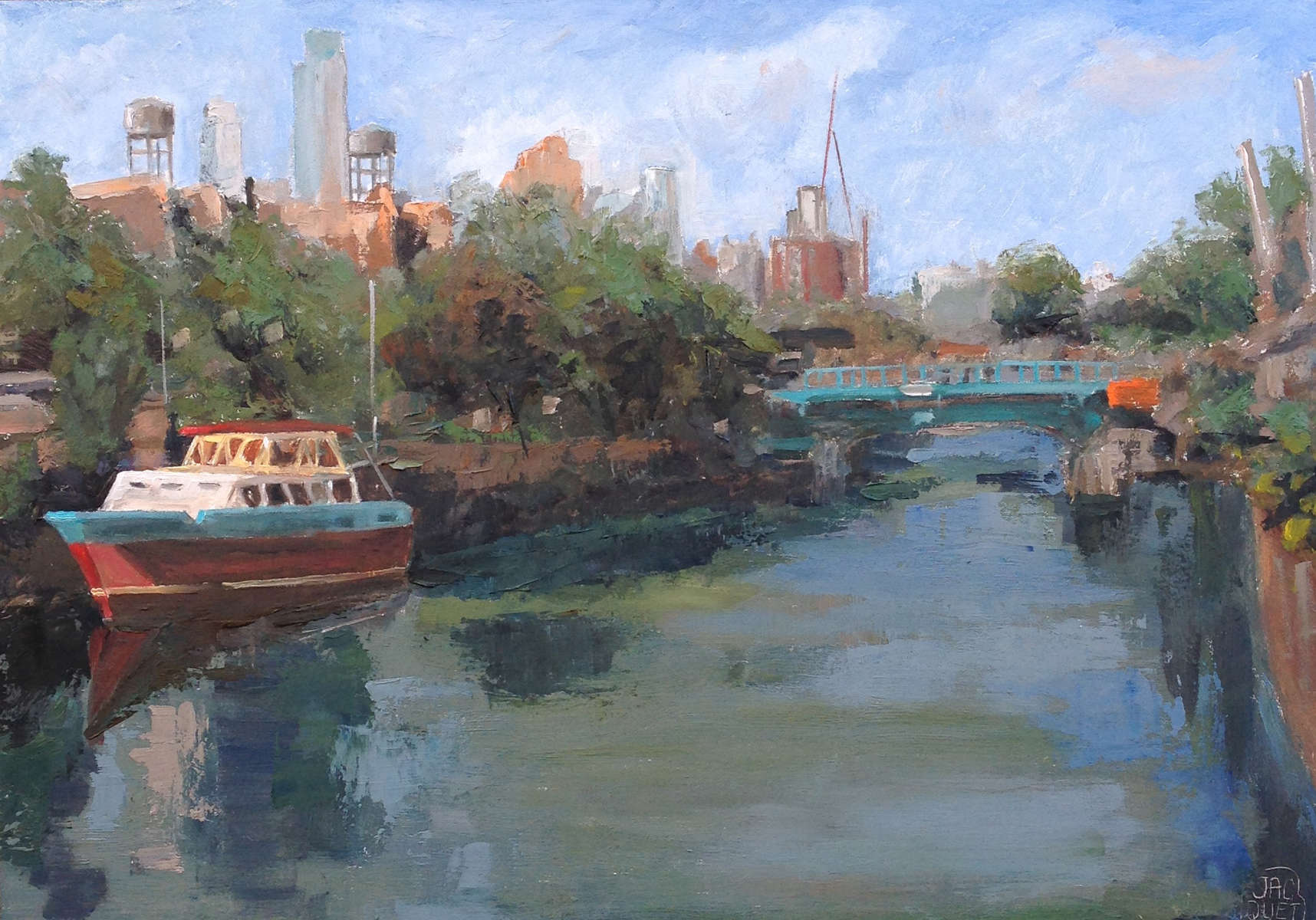 oil on board 12{quote} x 16{quote}   $ 900.00Part of the Gowanus Canal Renovation paint out 2014