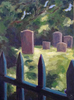 Old graveyard, Greenwich CTOil on panel 9{quote} x 12{quote}     $ 900.00