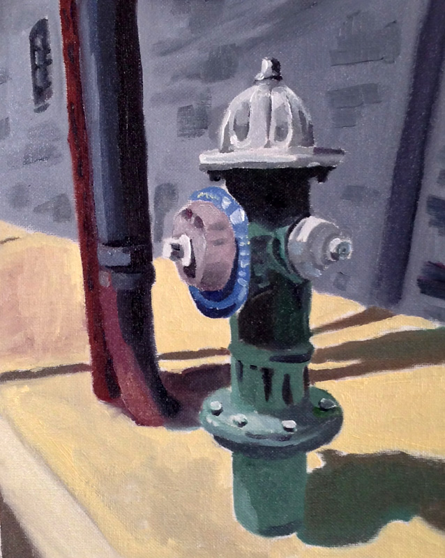 Hydrant, Port Chester NYoil on panel 8{quote} x 10{quote}     $ 400.00
