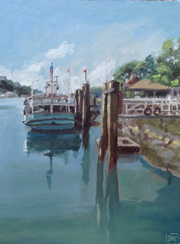 Island Harbor Ferry, Greenwich CT   SOLDoil on board 12{quote} x 16{quote}