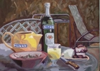 oil on board 12{quote} x 16{quote}    $ 900.00Pastaga is slang for {quote}pastis{quote}