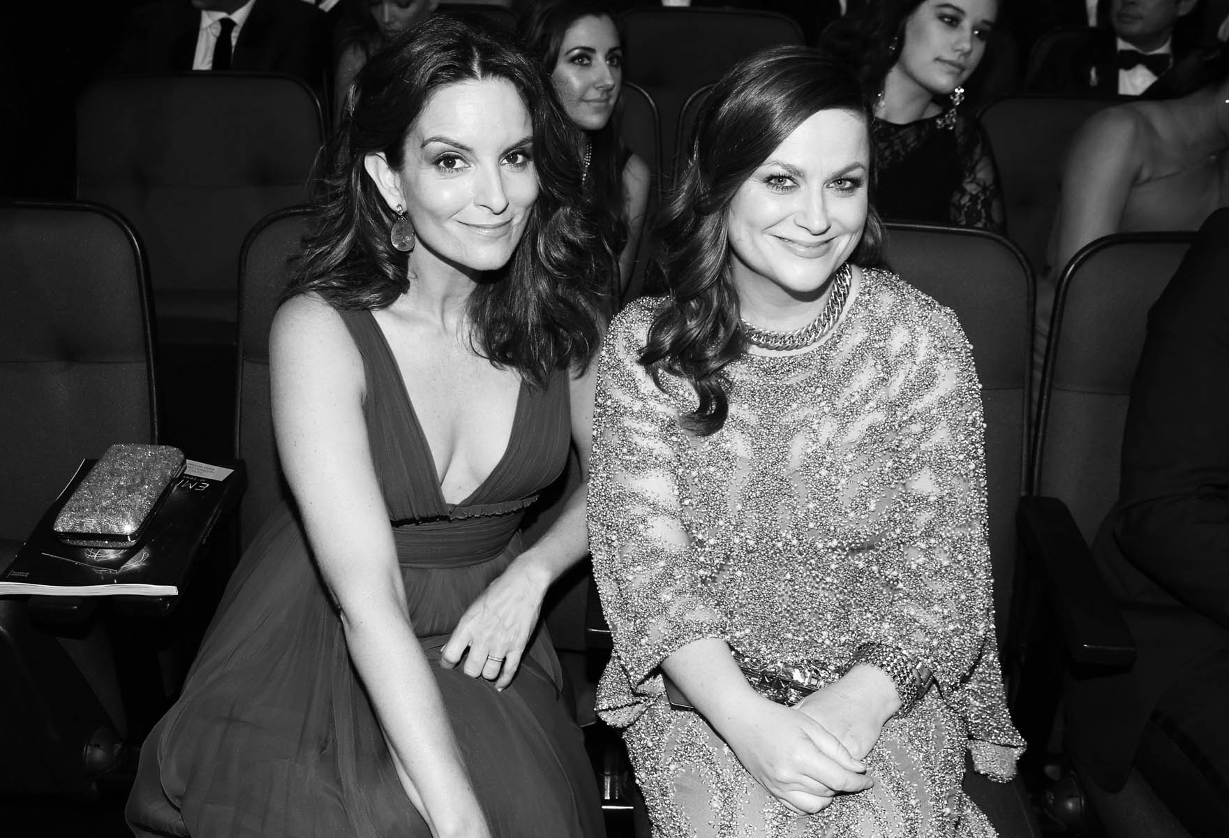 EXCLUSIVE - Tina Fey, left, and Amy Poehler appears in the audience at the 68th Primetime Emmy Awards on Sunday, Sept. 18, 2016, at the Microsoft Theater in Los Angeles. (Photo by Matt Sayles/Invision for the Television Academy/AP Images)