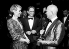 "Sarah Paulson, from left, Bruce Greenwood Ryan Murphy and the cast and crew of ""The People v. O.J. Simpson: American Crime Story"" backstage after accepting the award for outstanding limited series at the 68th Primetime Emmy Awards on Sunday, Sept. 18, 2016, at the Microsoft Theater in Los Angeles. (Photo by Matt Sayles/Invision for the Television Academy/AP Images)"
