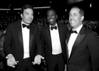 Jimmy Fallon, left, Chris Rock, and Jerry Seinfeld at the 68th Primetime Emmy Awards on Sunday, Sept. 18, 2016, at the Microsoft Theater in Los Angeles. (Photo by Matt Sayles/Invision for the Television Academy/AP Images)