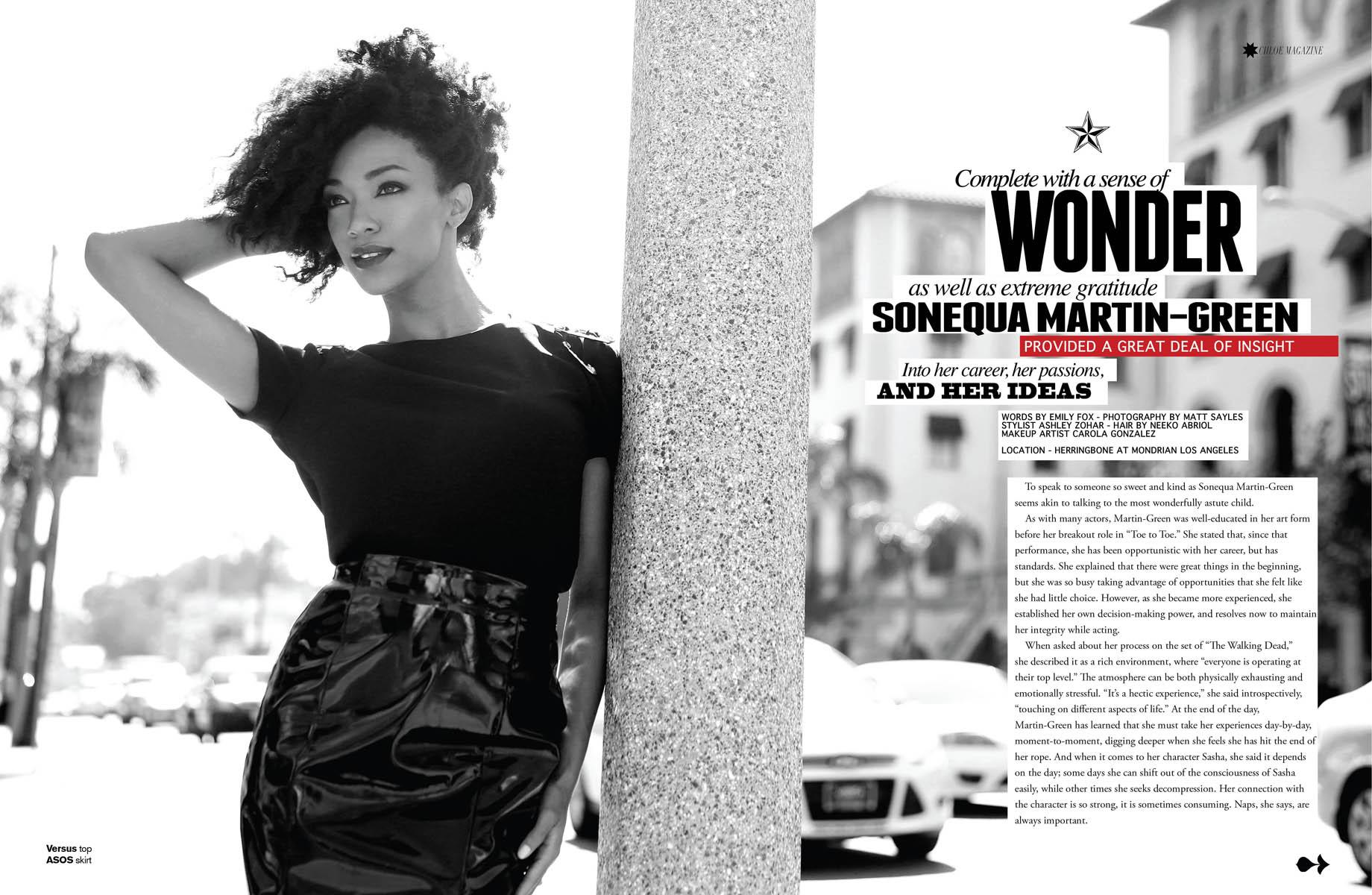 Sonequa Martin-Green   Chloe Magazine
