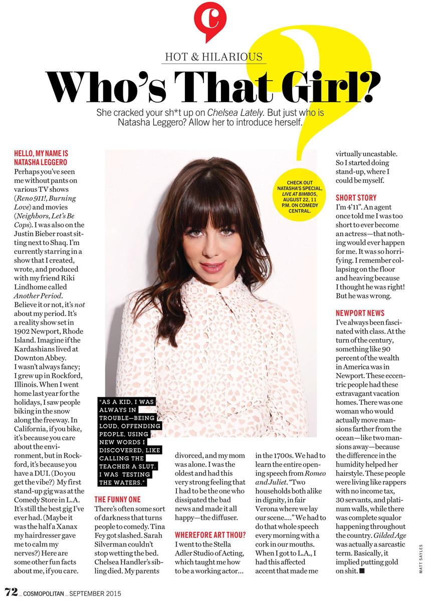 Natasha Leggero | Cosmopolitan