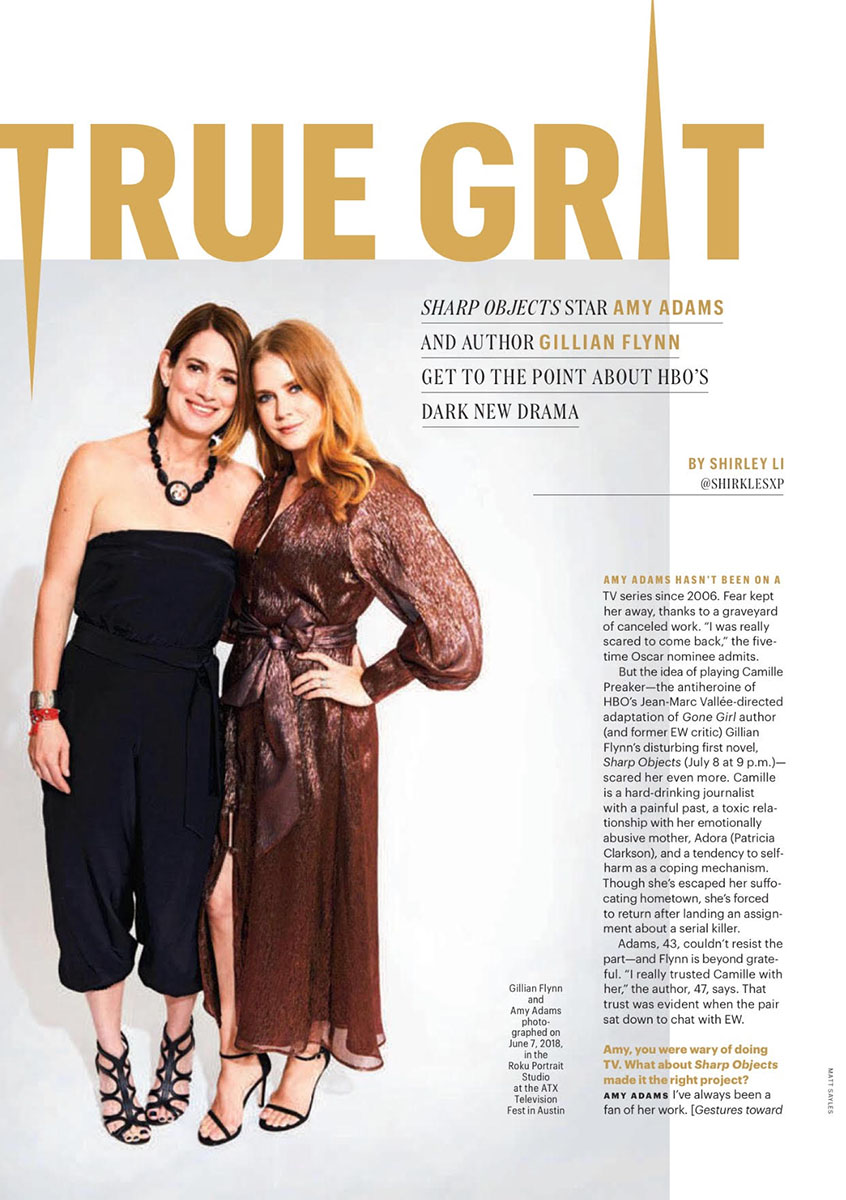 Amy Adams and Gillian Flynn | Entertainment Weekly