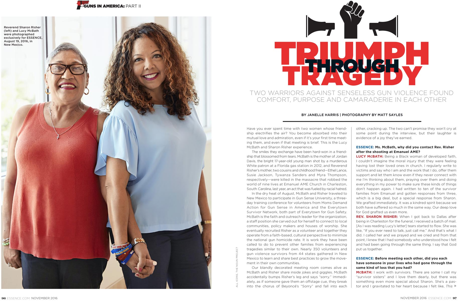 Lucy McBath and Rev. Sharon Risher | Essence