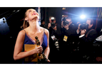 """Brie Larson appears backstage with the award for best actress in a leading role for """"Room"""" at the Oscars on Sunday, Feb. 28, 2016, at the Dolby Theatre in Los Angeles. (Photo by Matt Sayles/Invision/AP)"""
