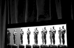 Oscar statuettes are seen backstage at the Oscars on Sunday, Feb. 26, 2017, at the Dolby Theatre in Los Angeles. (Photo by Matt Sayles/Invision/AP)