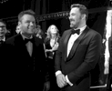 Matt Damon, left, and Ben Affleck appear backstage at the Oscars on Sunday, Feb. 26, 2017, at the Dolby Theatre in Los Angeles. (Photo by Matt Sayles/Invision/AP)