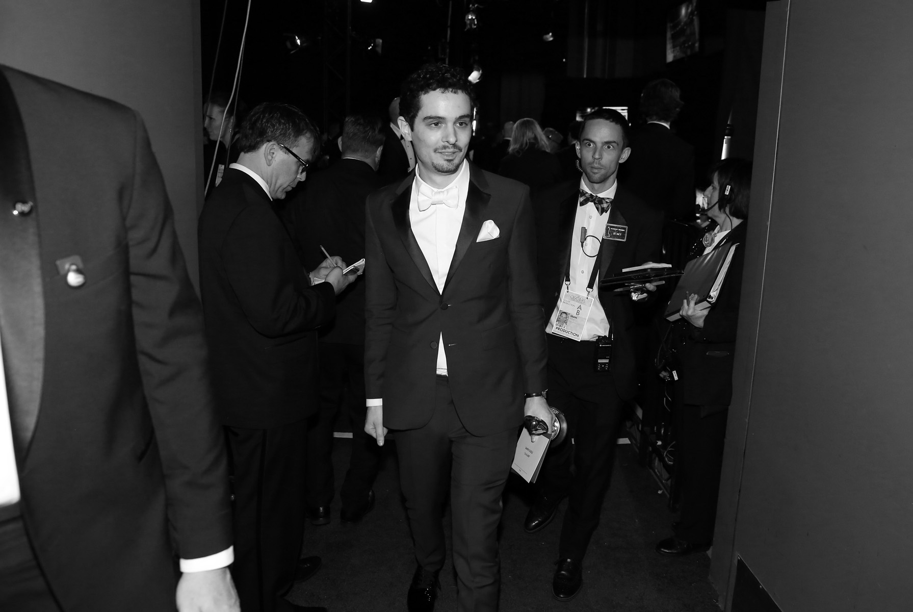 Damien Chazelle, winner of the award for best director for {quote}La La Land{quote}, appears backstage at the Oscars on Sunday, Feb. 26, 2017, at the Dolby Theatre in Los Angeles. (Photo by Matt Sayles/Invision/AP)