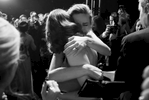 Brie Larson, back, embraces Emma Stone, winner of the award for best actress in a leading role for {quote}La La Land,{quote} backstage at the Oscars on Sunday, Feb. 26, 2017, at the Dolby Theatre in Los Angeles. (Photo by Matt Sayles/Invision/AP)