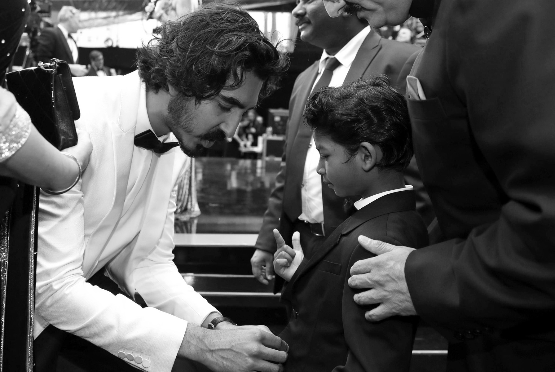 Dev Patel, left, and Sunny Pawar arrive at the Oscars on Sunday, Feb. 26, 2017, at the Dolby Theatre in Los Angeles. (Photo by Matt Sayles/Invision/AP)