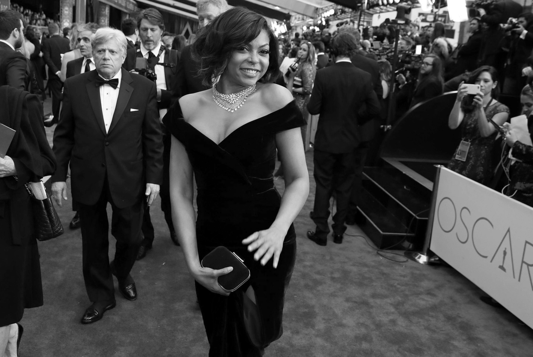 Taraji P. Henson arrives at the Oscars on Sunday, Feb. 26, 2017, at the Dolby Theatre in Los Angeles. (Photo by Matt Sayles/Invision/AP)