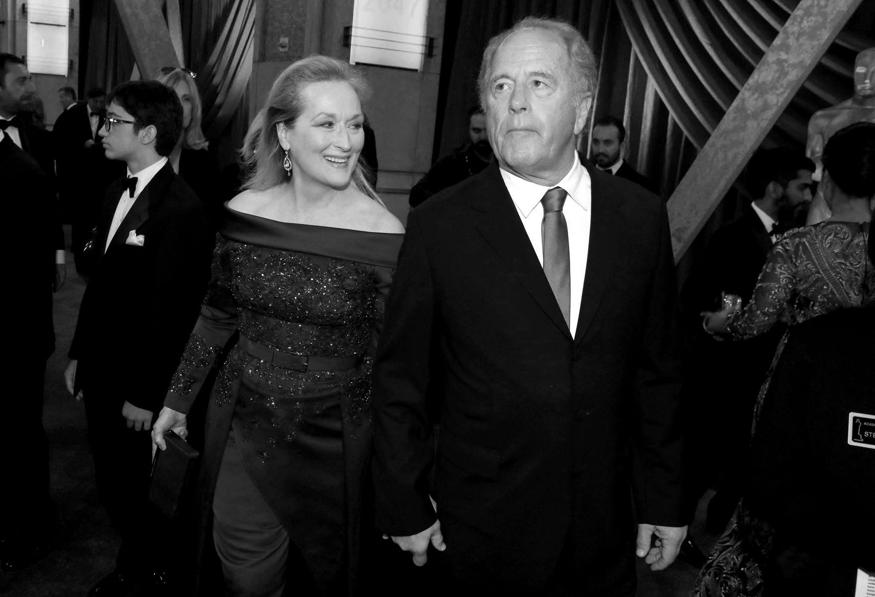 Meryl Streep, left, and Don Gummer arrive at the Oscars on Sunday, Feb. 26, 2017, at the Dolby Theatre in Los Angeles. (Photo by Matt Sayles/Invision/AP)