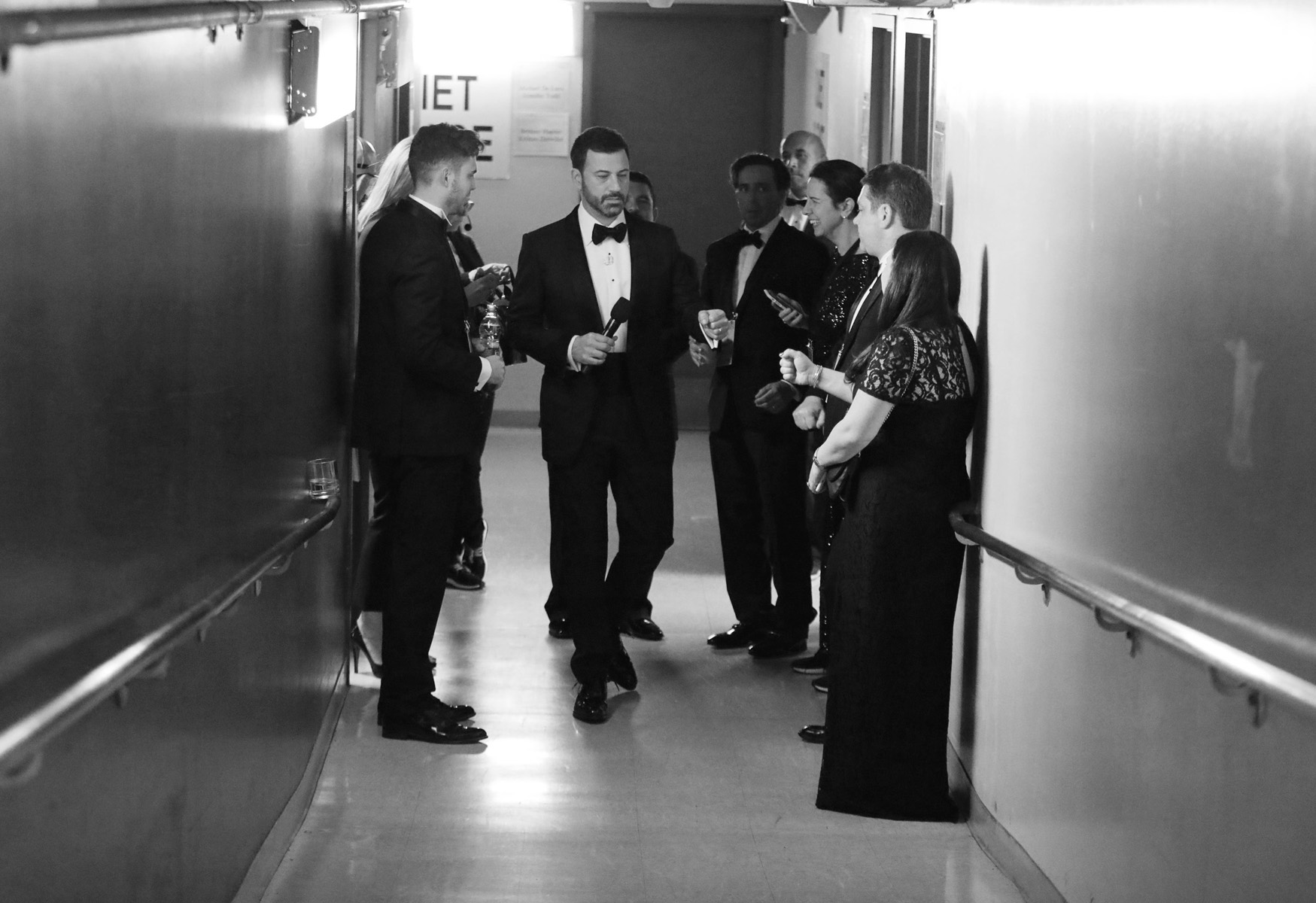 Jimmy Kimmel appears backstage at the Oscars on Sunday, Feb. 26, 2017, at the Dolby Theatre in Los Angeles. (Photo by Matt Sayles/Invision/AP)