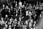 Audience reacts to {quote}Moonlight{quote} being announced as best picture winner backstage at the Oscars on Sunday, Feb. 26, 2017, at the Dolby Theatre in Los Angeles.  (Photo by Matt Sayles/Invision/AP)
