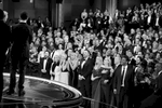 The audience reacts to {quote}Moonlights{quote} best picture win at the Oscars on Sunday, Feb. 26, 2017, at the Dolby Theatre in Los Angeles.  (Photo by Matt Sayles/Invision/AP)
