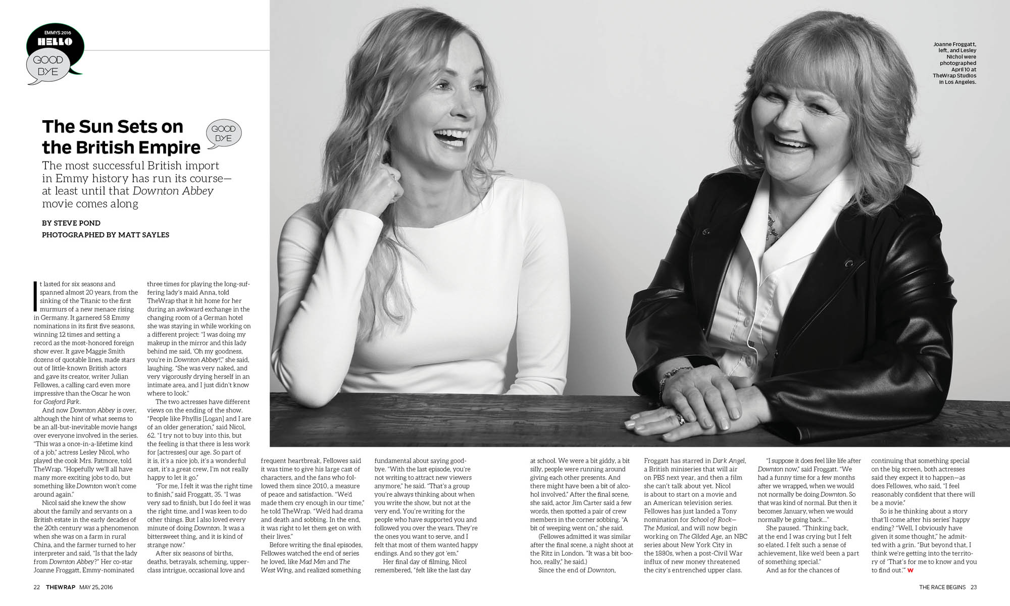 Joanne Froggatt and Lesley Nichol