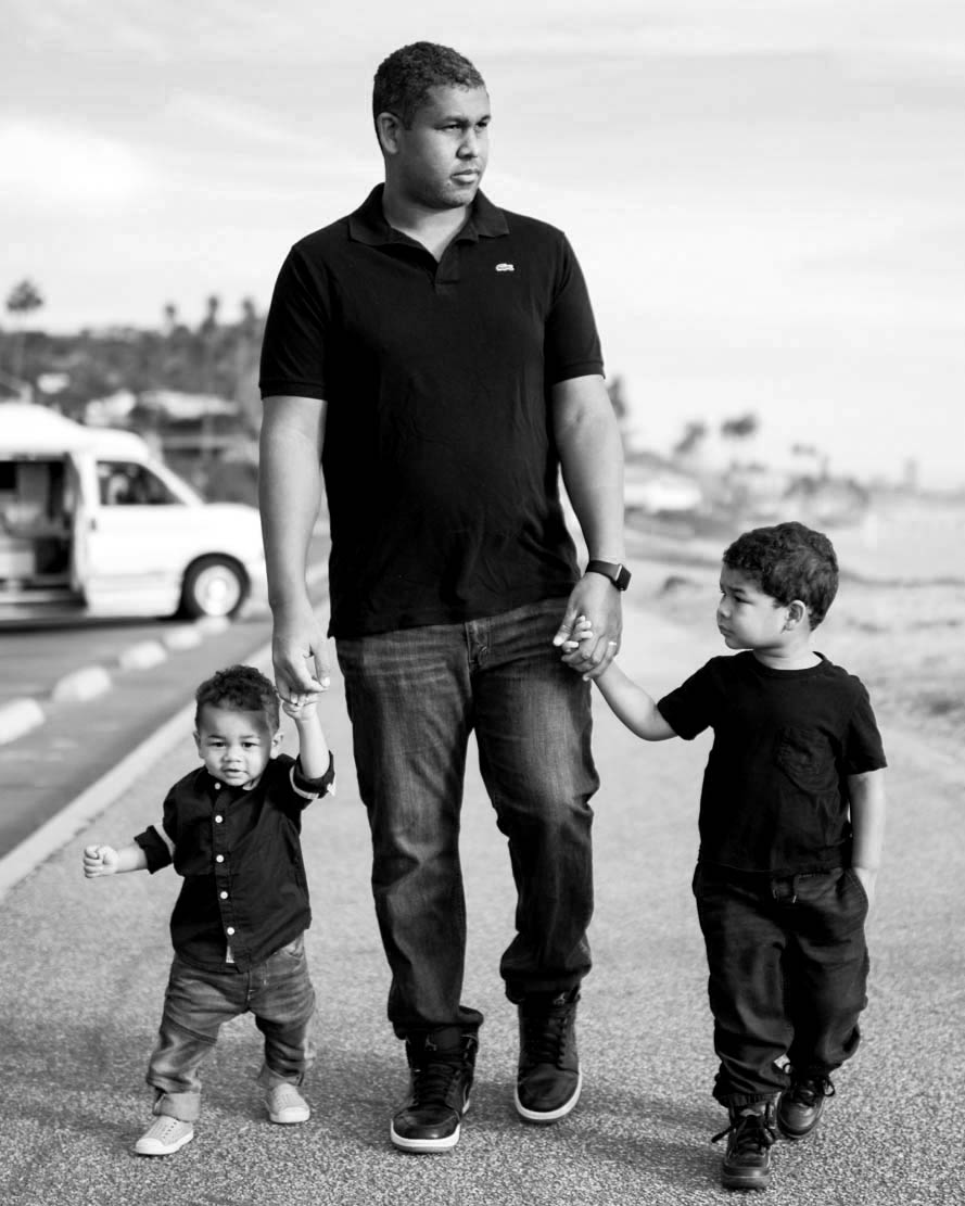 Photo of Matt with his sons taken by - Yellow Heart Photography