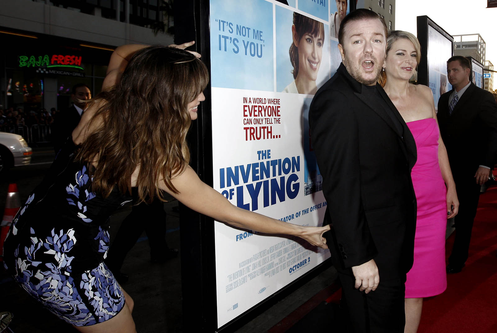Jennifer Garner and Ricky Gervais