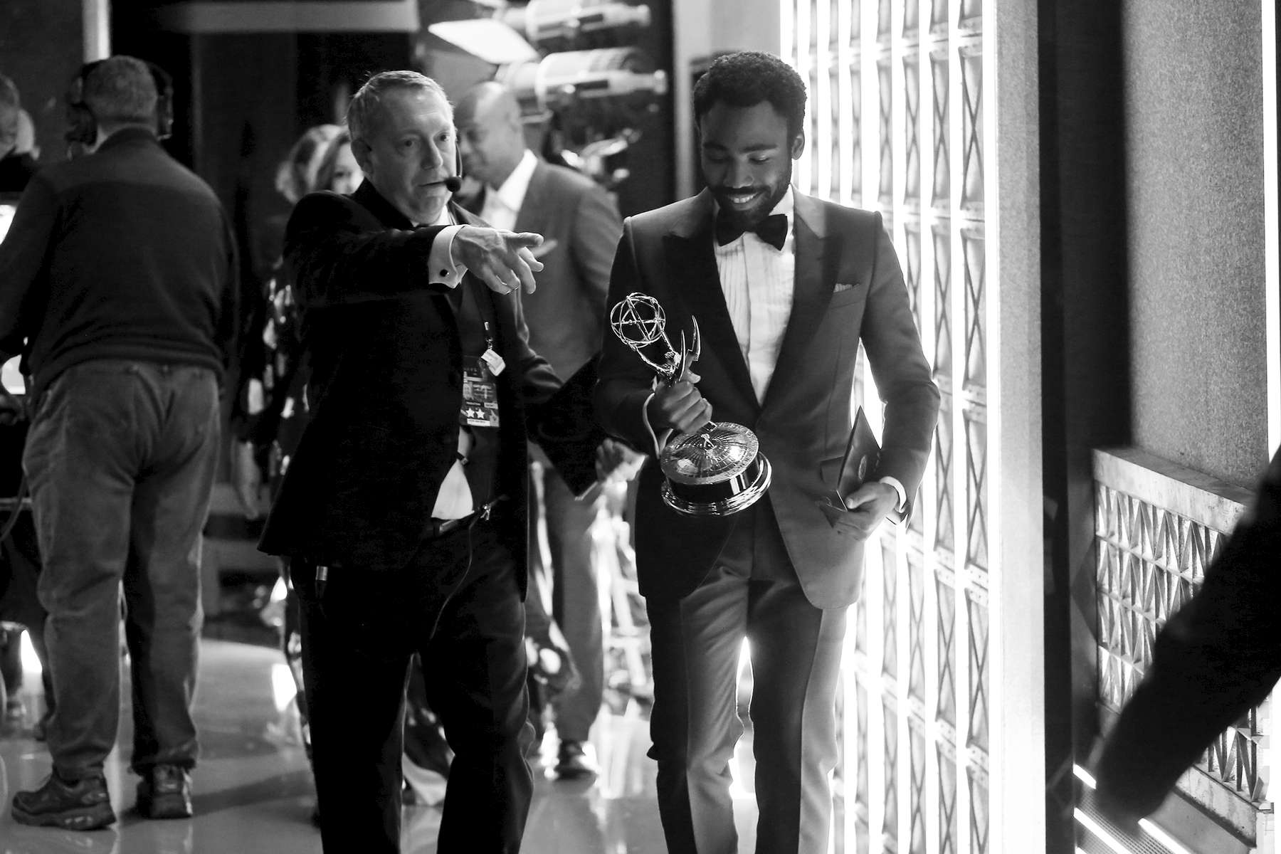 Donald Glover appears backstage at the 69th Primetime Emmy Awards on Sunday, Sept. 17, 2017, at the Microsoft Theater in Los Angeles. (Photo by Matt Sayles/Invision for the Television Academy/AP Images)