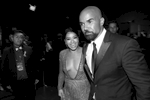 Gina Rodriguez, left and Shemar Moore at the 69th Primetime Emmy Awards on Sunday, Sept. 17, 2017, at the Microsoft Theater in Los Angeles. (Photo by Matt Sayles/Invision for the Television Academy/AP Images)