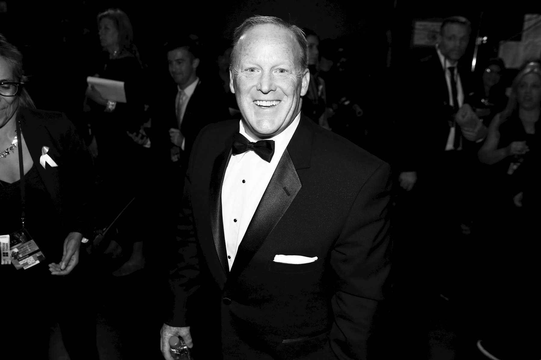 Sean Spicer attends the 69th Primetime Emmy Awards on Sunday, Sept. 17, 2017, at the Microsoft Theater in Los Angeles. (Photo by Matt Sayles/Invision for the Television Academy/AP Images)