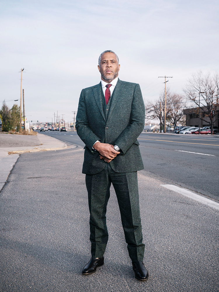Robert Smith stands for a portrait near the intersection of Leetsdale Dr. and S Forest St. where he was stopped by Denver police when he was just 17years old. He says this experiance stayed with him his entire life. Today he is the richest African American man in America. Photographed on November 10, 2017